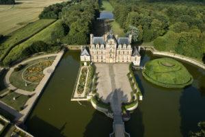 Château de Beaumesnil vue du ciel