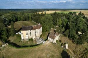 Château d'Harcourt vue du ciel