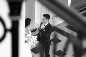 Photo de mariage de l'arrivé à la Mairie
