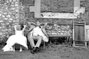 Photo de mariage, mode détente.